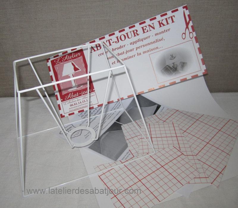 abat jour rectangulaire en kit l 39 atelier des abat jour vannes. Black Bedroom Furniture Sets. Home Design Ideas